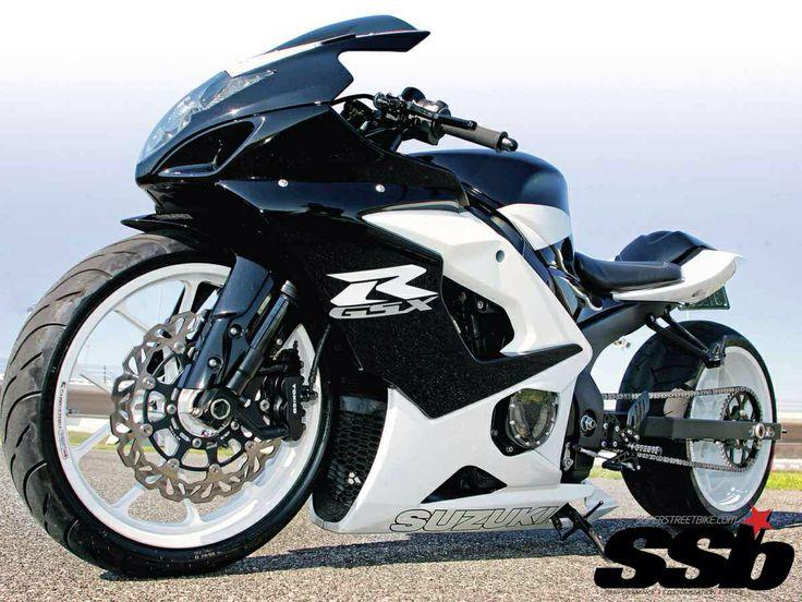 Streetbike Gsxr Suzuki White Black custom Custom