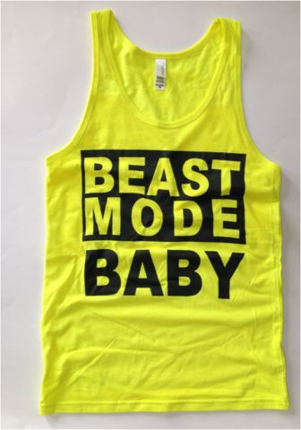 Beast Mode Baby JERSEY TANK: Neon Yellow - Be What Inspires You | Shop Women's Fitness Apparel