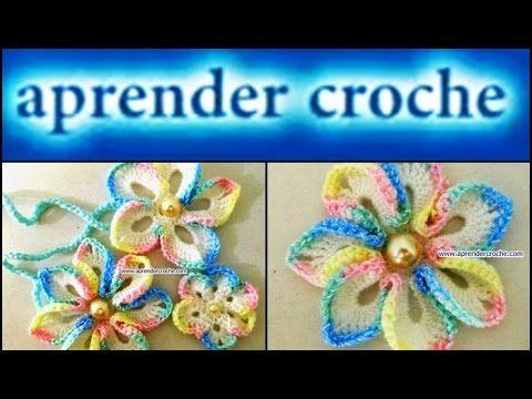 """Edinir-Croche ensina flores em croche 102 - flor inverno baby. *NOVOS VIDEO-AULAS TODA SEMANA"""" Clique no link abaixo e clique em """"Inscrever-se"""" para receber ..."""