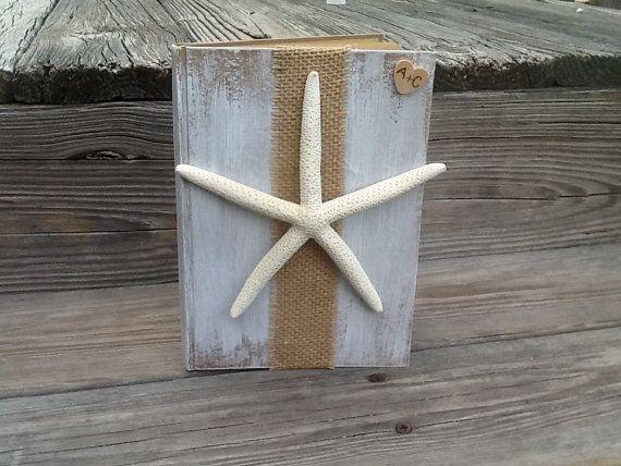 Gepersonaliseerde strand bruiloft-gastenboek van PineNsign op Etsy