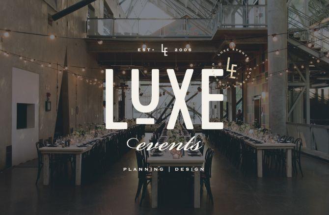 Luxe Events Brand launch - Design by Salted Ink | Logo Design | www.saltedink.com | Brand Stylist