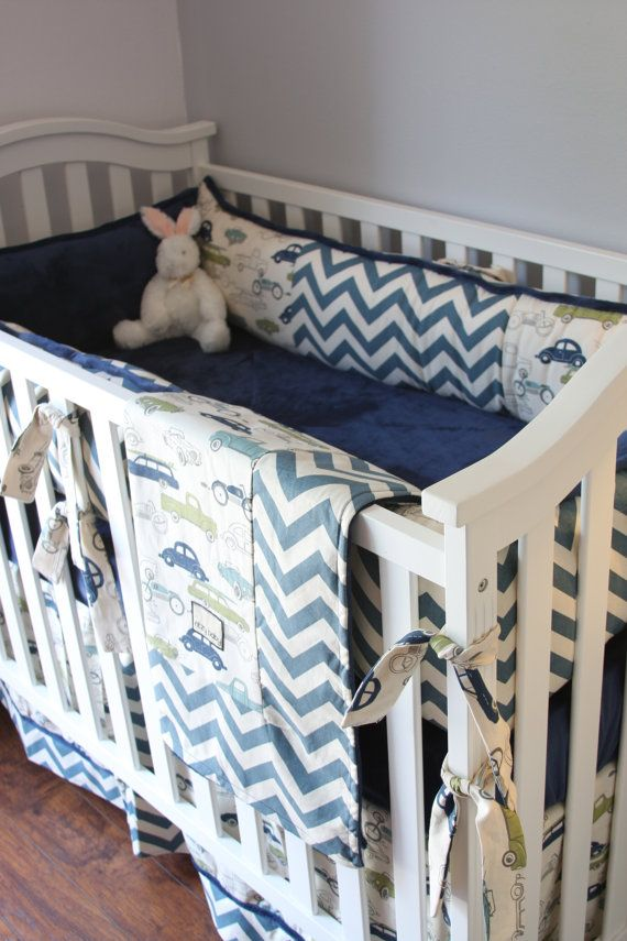 Custom Boy Crib Bedding Baby Boy Cars Crib by RitzyBabyOriginal