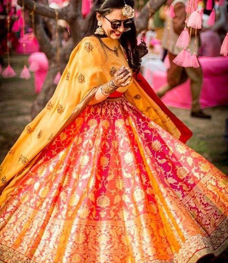 The wedding brigade # bridal # lehenga # colourful #