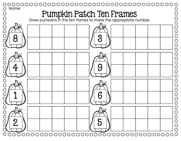 pumpkin patch ten frames first grade teaching pinterest pumpkins pumpkin patches and october. Black Bedroom Furniture Sets. Home Design Ideas