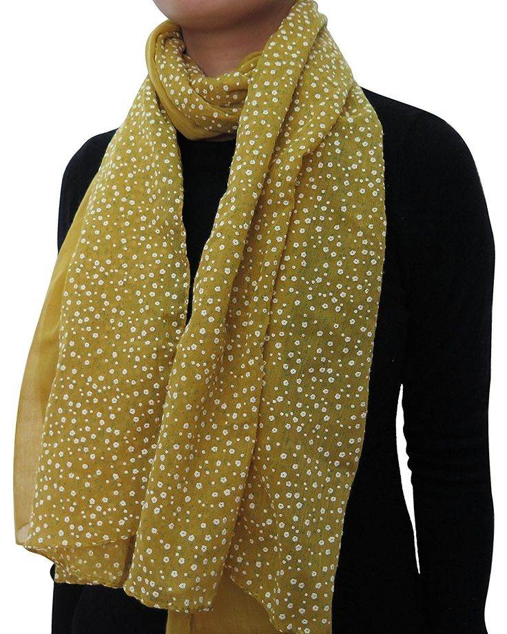 Patchwork Floral Print Head Wrap Scarf for Women Lightweight – Gold – C211WGLSSY…   – SCARVES & WRAPS