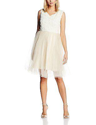 18, Off-White (Cream), Lindy Bop Women's Anais Cream Dress NEW