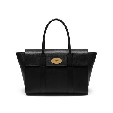 New Bayswater | Black Natural Grain Leather | Women | Mulberry