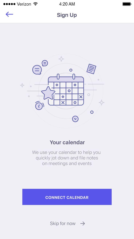 Your calendar screen