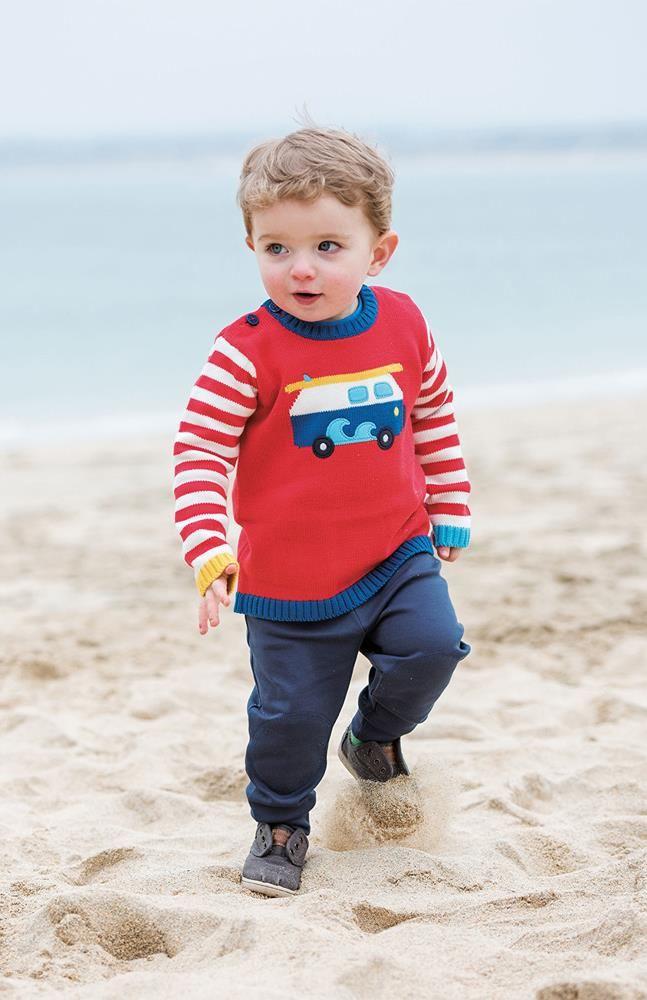 Frugi Jack knitted sweater - Kombi Retro Baby Clothes - Baby Boy clothes - Danish Baby Clothes - Smafolk - Toddler clothing - Baby Clothing - Baby clothes Online