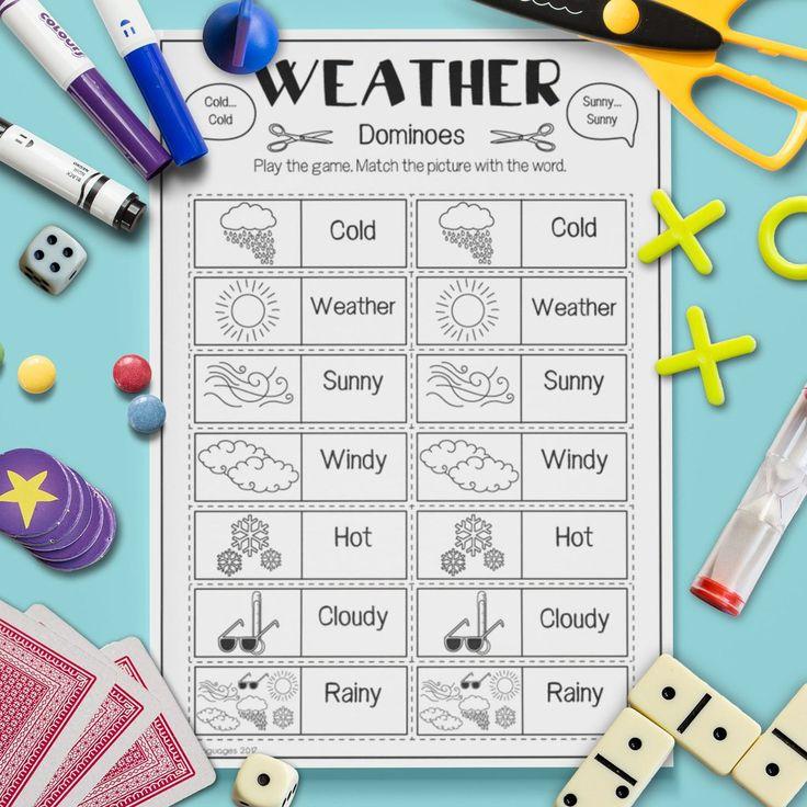 weather 39 dominoes 39 game esl weather. Black Bedroom Furniture Sets. Home Design Ideas