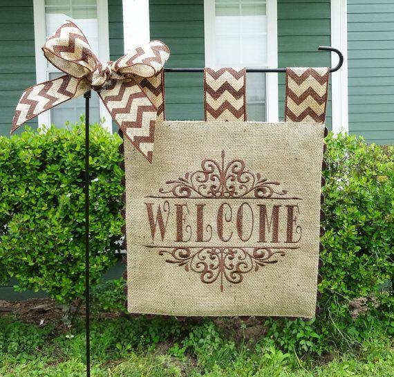 15 best Garden Flags images on Pinterest | Burlap garden flags, Yard ...