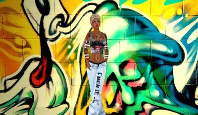 Martinas modeling Journey: VSSR Flare Jeans Fuck it...#Cranked# Freak Shirt F...
