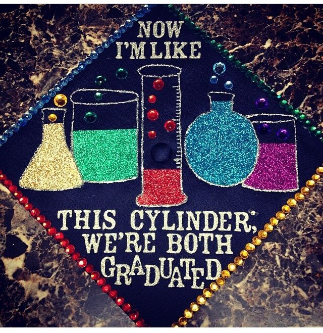 Science inspired graduation cap