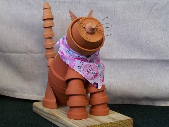Pot people to cats & dogs... cute DIY garden art.