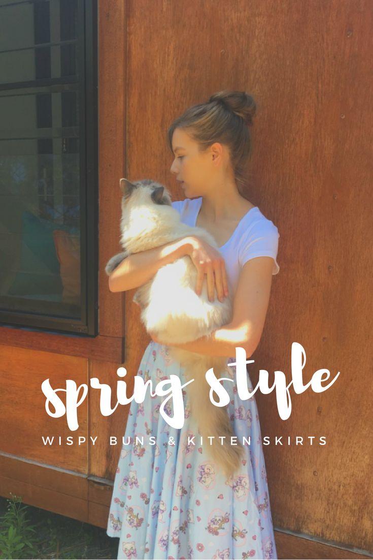 Oh, dearest Spring, how I do love you! // Spring Style // Wispy Buns & Kitten Skirts // MangoBerry Beach  http://www.mangoberrybeach.com/style/spring-style-wispy-buns-kitten-skirts