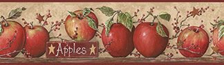 KP Creek Gifts - Apple & Star Wall Border ***