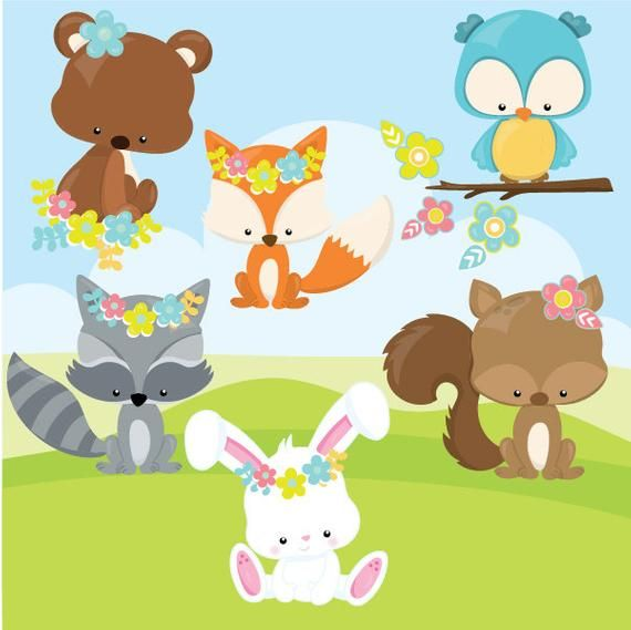 Buy 10 Get 10 Off Spring Animals Clipart Commercial Use Etsy Animal Clipart Clip Art Spring Animals