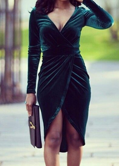 I love She So Overdressed...check out her blog...this velvet wrap dress is a must