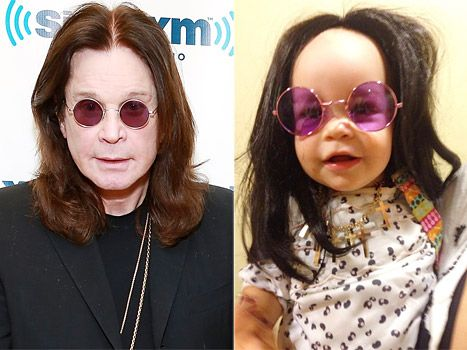 Jack Osbourne dressed his daughter Pearl as his rocker dad Ozzy Osbourne. Click the picture to read more.