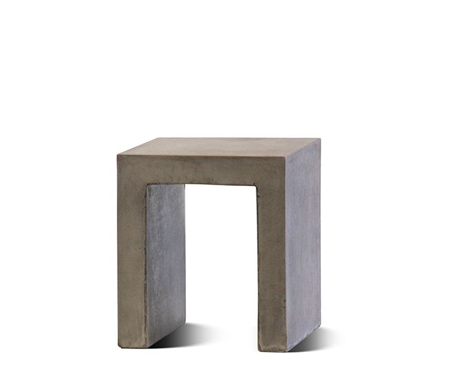 The Soho outdoor concrete stool is made from a strong and lightweight material GRC – A blend of fiberglass and concrete applied using a special technique, to ensure strength and longevity. Reactive oxides are used to colour each piece, providing a durable natural stone-like, long lasting patina.     With a huge range of sizes and designs, from outdoor stools to large dining tables, the Litestone range of outdoor furniture and planters is at the forefront of contemporary outdoor product…