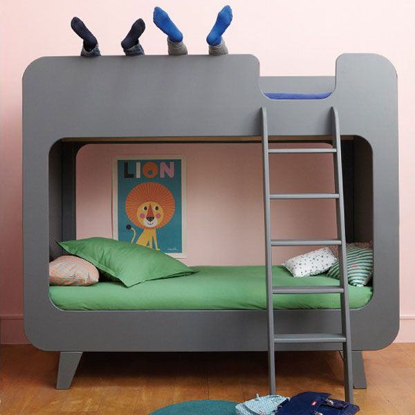 Stapelbed Pile ou face in dark grey | Tom en Lilly