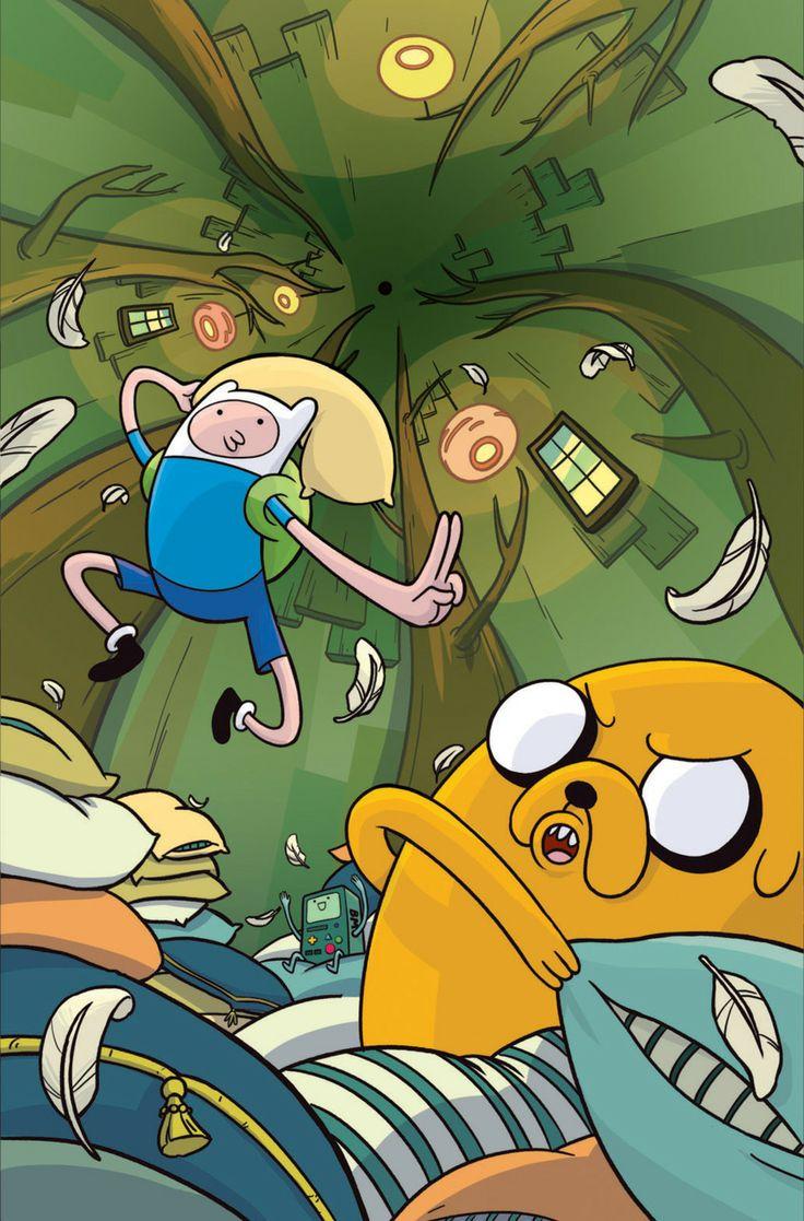 Guerra de almohadas de Finn y Jake