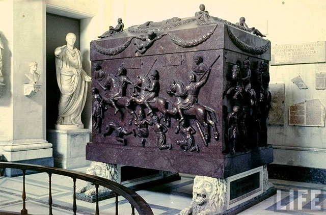 Vatican Treasure: Sarcophagus of St. Helena, ca. 4th C. AD. Mother of Roman Emperor Constantine I the Great (who legalized Christianity in 313 with his Edict of Milan)