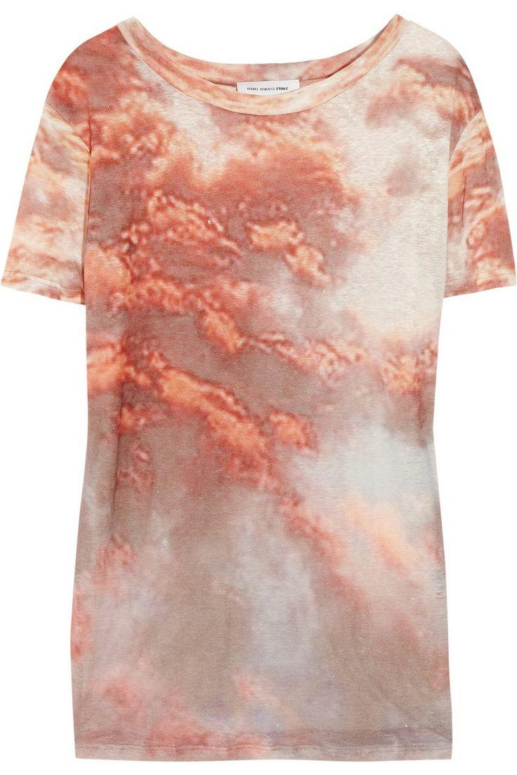 ÉTOILE ISABEL MARANT  Zot printed linen T-shirt: Photos Galleries, Etoil Isabel, Zot Prints, Linens Tshirt, Marant Zot, Isabel Marant, Prints Linens, Linens T Shirts
