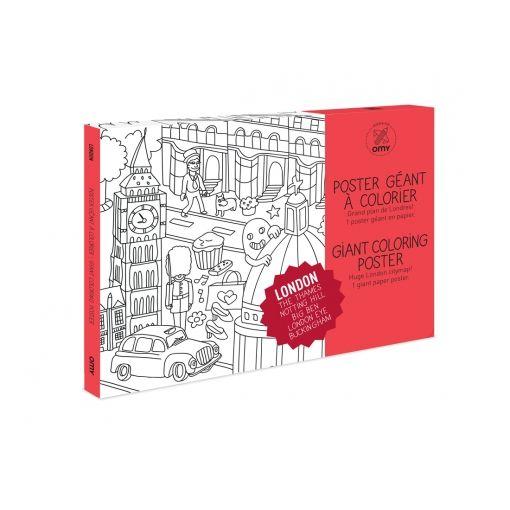 POSTER LONDRES Plan de Londres géant à  1 poster en papier/ Format déplié : 1,15 m x 0,80 m 9.90 Euros