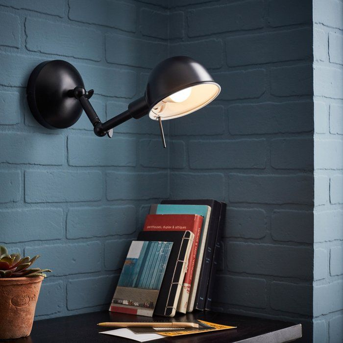 Bulma 1 Light Swing Arm Lamp In 2019 Wall Sconce Lighting Lighting Swing Arm Wall Light