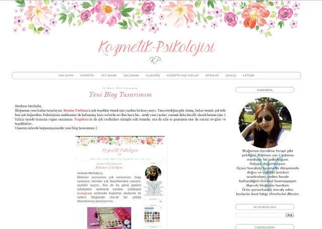 Benim Tutkum - Kozmetik ve Bakım Hakkında Herşey: Kozmetik Psikolojisi - Blog Şablon Tasarımı