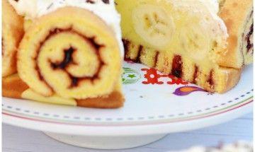 FotoRecept   Banánová slimáčiková torta