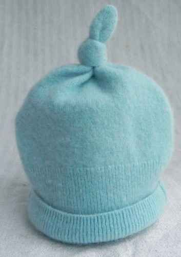 Blue Hat Upcycle from a sweater