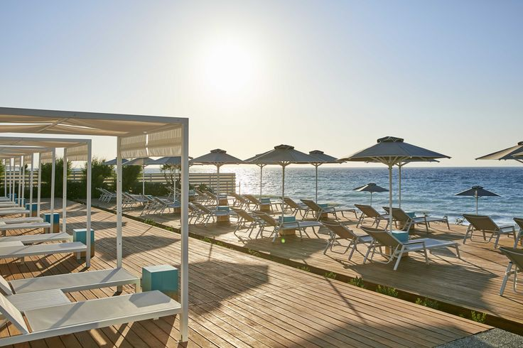 Beach deck at Electra Palace Rhodes.