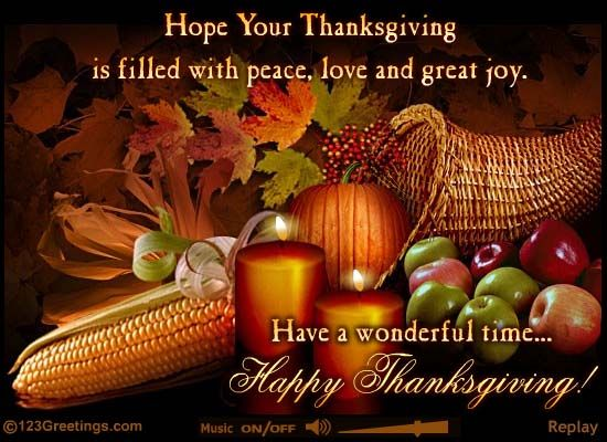 Everyone should have a Happy Thanksgiving filled with peace, love, and great joy!