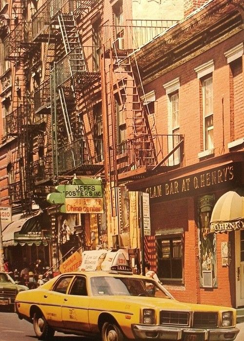 New York City street scene, 1970s