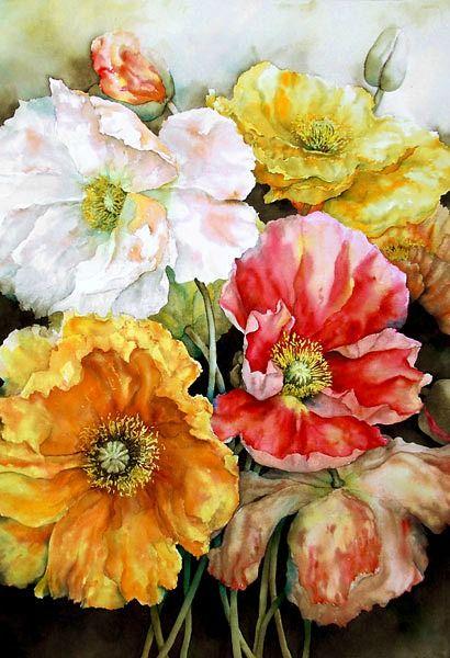 stilllifequickheart:Pam Sackville Poppies 2008