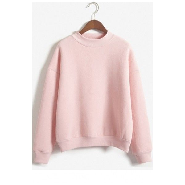 Harajuku Pastel Peach Pink Hoodies Sweatshirts for Women ($25) ❤ liked on Polyvore featuring tops, hoodies, sweatshirts, pink hoodie sweatshirt, long sweatshirt, round top, cotton hoodie and pink top