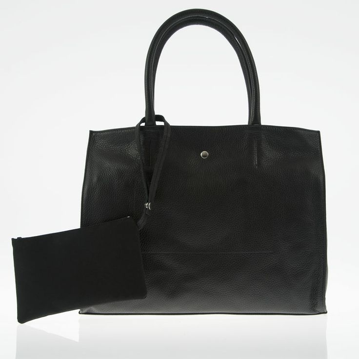 Alice nera (black) - borsa bianca a mano in vera pelle by kokomamas collections spring summer 2014 (bags and accessorized)