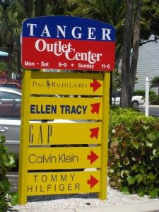 Tanger Outlet Center - Fort Myers Florida - We stop here to and from our visits to Sanibel Island!!!