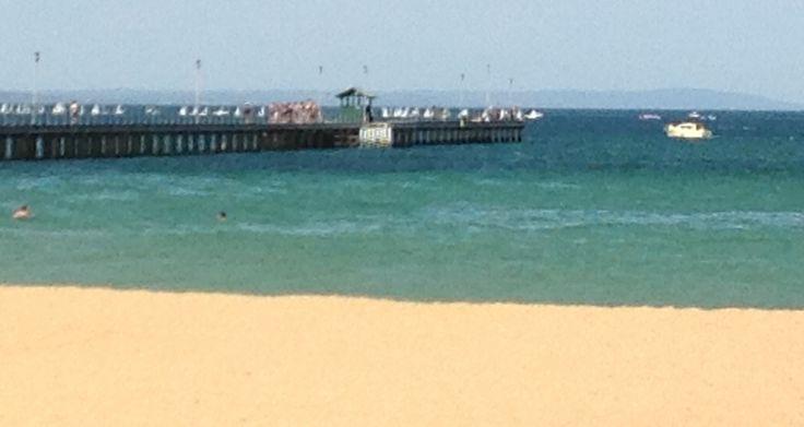 Looking towards pier