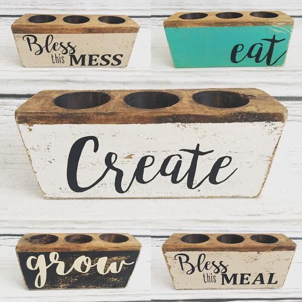 Painted Sugar Mold with Custom Vinyl Lettering by WillowShedDesigns on Etsy https://www.etsy.com/listing/474212741/painted-sugar-mold-with-custom-vinyl
