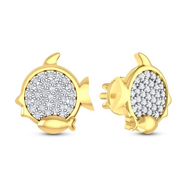 Pescado Diamond Earring #FishEarring #Diamond