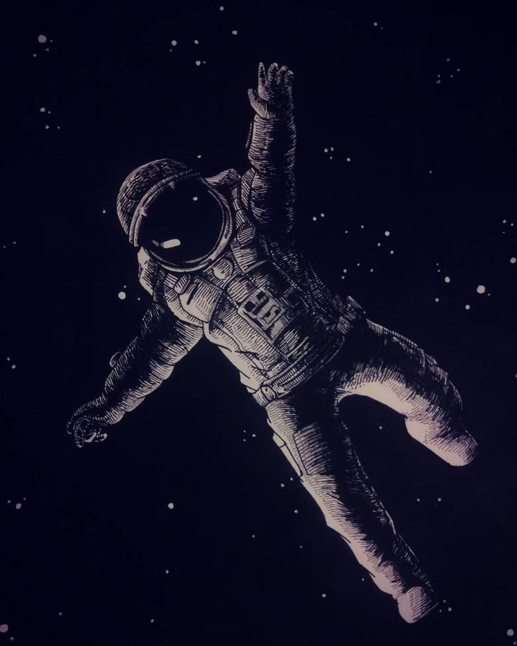 astronaut space drawing - photo #26
