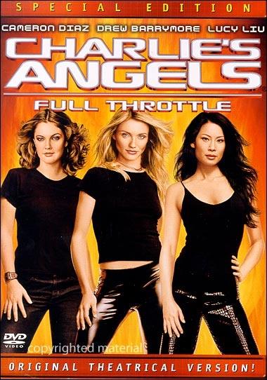 Charlie's Angels the movie. Drew Barrymore, Cameron Diaz, Lucy Liu