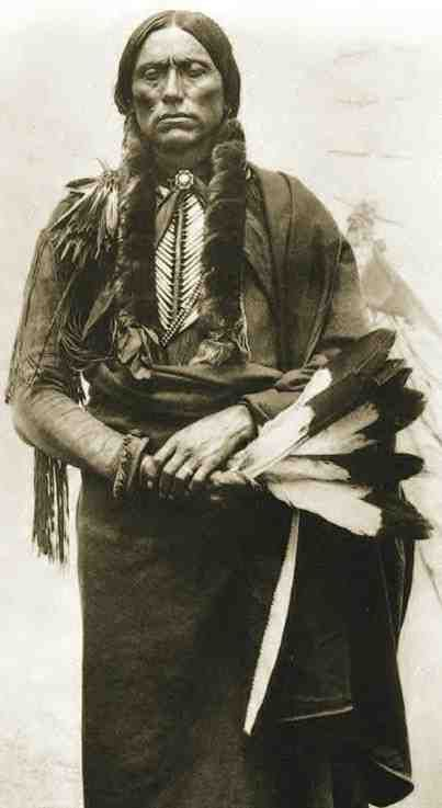 Quanah Parker, half native/half white, last chief of the Comanche