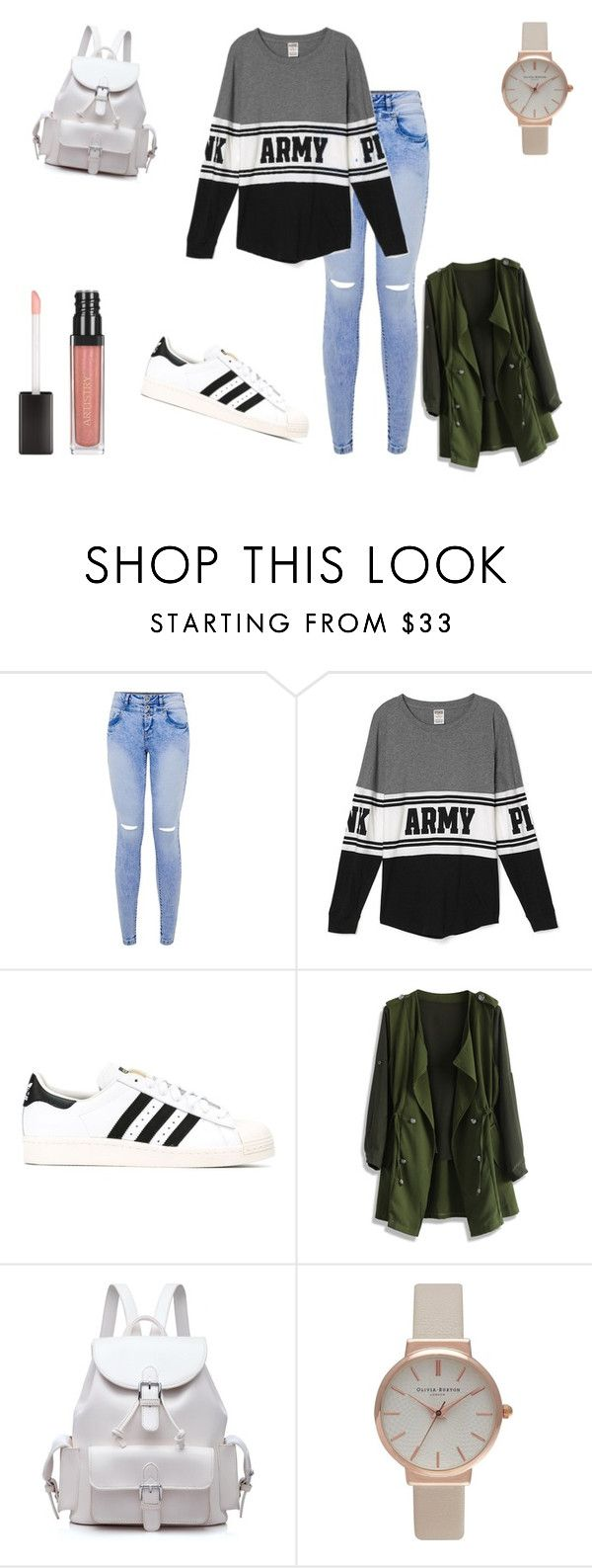 """#ARMY"" by dagusia112 on Polyvore featuring moda, adidas, Chicwish i Olivia Burton"