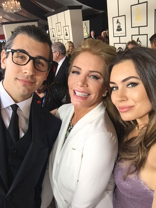 Sophie Simmons, Shannon Tweed and Nick Tweed attend the Grammys with Gene Simmons (not pictured) via #NoFilterBlog