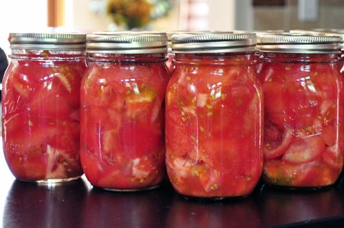 Canning Tomatoes. More on canning tomatoes: http://www.tomatodirt.com/canning-tomatoes.html.