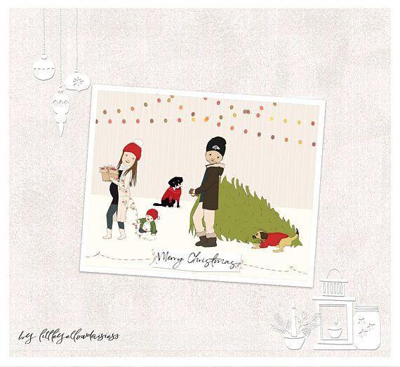 Personalized Christmas Cards-Custom Christmas Gift-Christmas